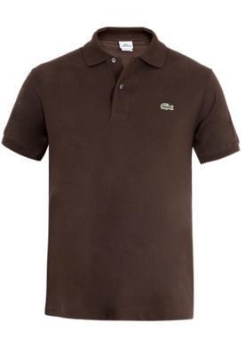Camisa Polo Lacoste Basic Marrom