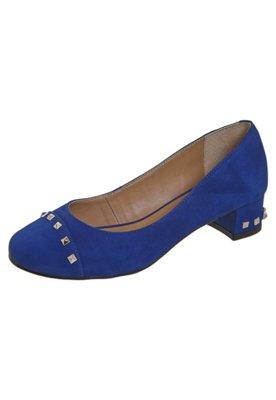 Sapato Scarpin SPikes Azul - Raphaella Booz