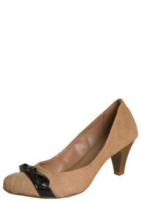 Sapato Scarpin Biqueira Via Uno Matelassê Bege
