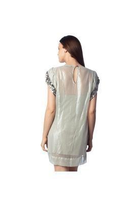 Vestido Curto Glam Posh Cinza - Espaço Fashion