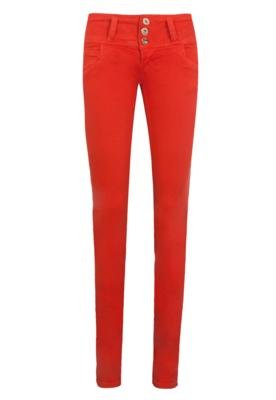 Calça Jeans Colcci Skinny Tina Power Color Laranja
