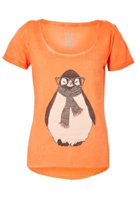 Blusa Cantão Pinguim Laranja