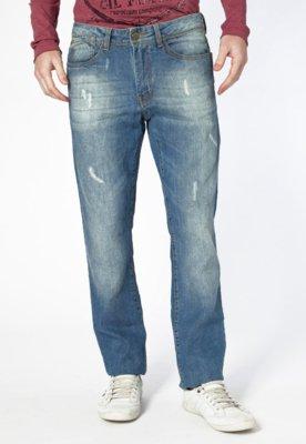 Calça Jeans Carmim Reta Hummer Azul