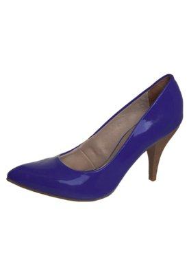 Sapato Scarpin Bico Fino Alto Azul - Bebecê