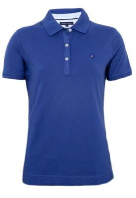 Camisa Polo Tommy Hilfiger Classic Fit Azul