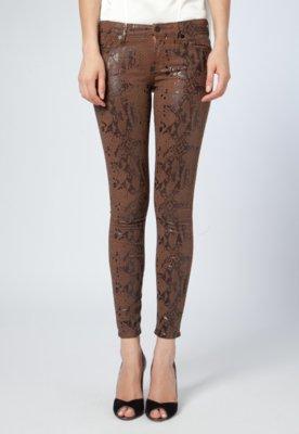 Calça Jeans Seven Skinny Snake Marrom - 7 for all mankind
