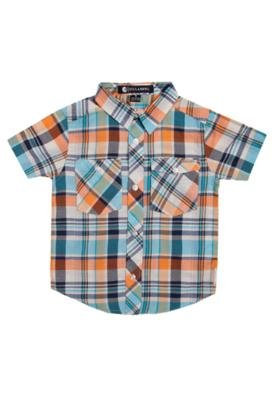 Camisa Billabong Maple SS Infantil Xadrez