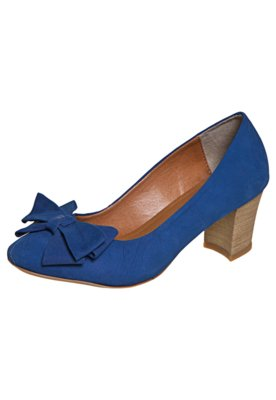 Sapato Scarpin FiveBlu Laço Azul