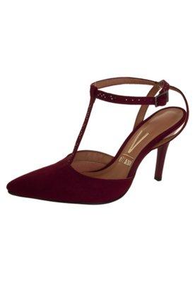 Sapato Scarpin Vizzano Salomé Aberto Traseiro Vinho