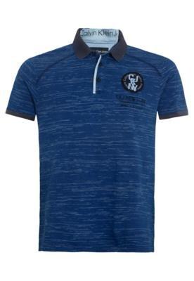 Camisa Polo Calvin Klein The Original Azul - Calvin Klein Je...