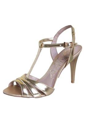 Sandália Lilly's Closet Salomé Metalizada Dourada