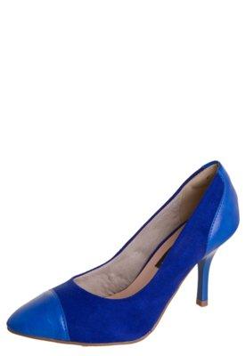 Sapato Scarpin Anna Flynn Cap Toe Azul