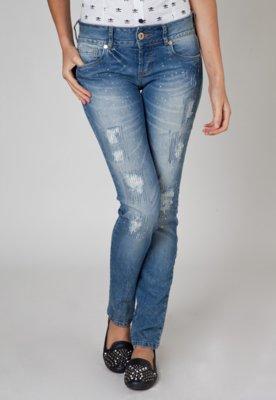 Calça Jeans Colcci Strass Azul