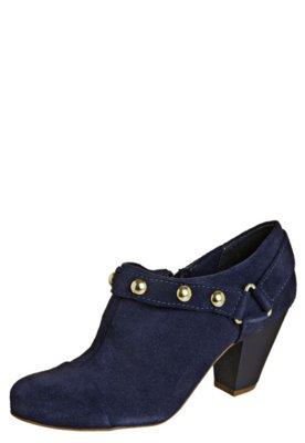 Ankle Boot Lilly's Closet Salto Médio e Tachas Azul