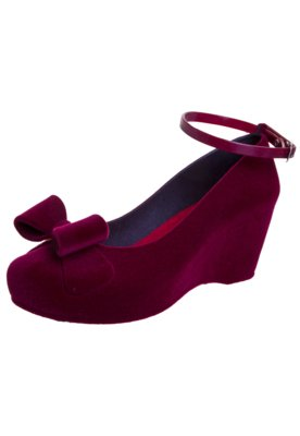 Sapato Scarpin Five Blu Laço Vinho - FiveBlu