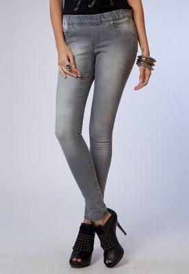 Calça Jeans Slim Cinza - Pink Connection