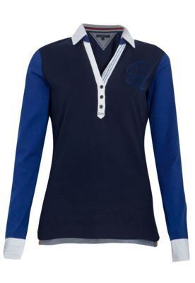 Camisa Polo Tommy Hilfiger Karla Azul