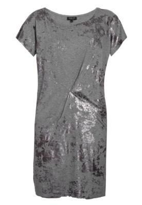 Vestido Shop 126 Metalizado Cinza