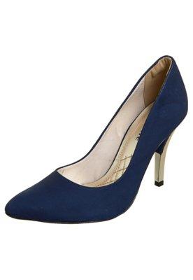 Sapato Scarpin Via Marte Salto Metalizado Azul