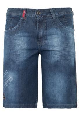 Bermuda Jeans Gangster Estonada Azul