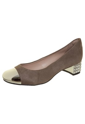 Sapato Scarpin Anna Flynn SPikes Marrom