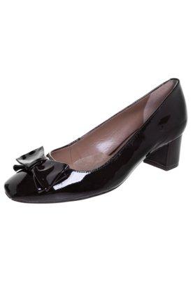 Sapato Scarpin Stéphanie Classic Salto Bloco Laço Preto