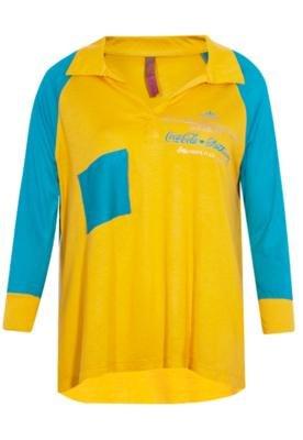 Blusa Comfort Desconstruída Amarela - Coca Cola Clothing