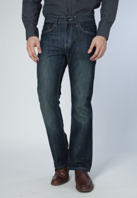 Calça Jeans Kenneth Cole Boot Cut Dark Azul
