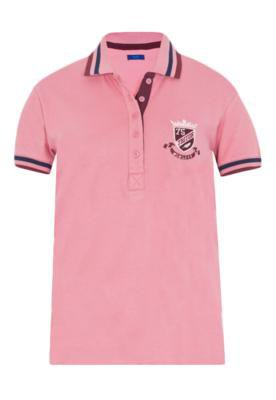 Camisa Polo Triton Justa Bordado Rosa