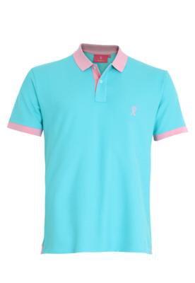 Camisa Polo Vicomte A. Bicolore Azul