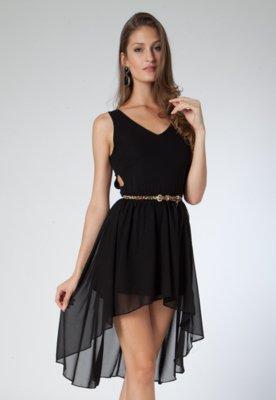 Vestido Mullet Cinto Preto - Pop Touch