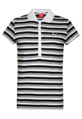 Camisa Polo Puma Striped Preto