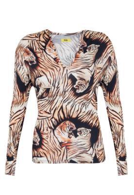 Blusa Justa Tiger Bege - Triton