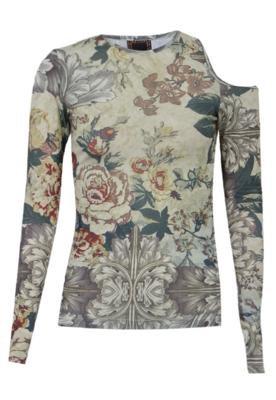 Blusa Lança Perfume Flower Bege
