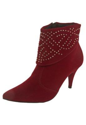 Ankle Boot Pala Hotfix Vermelha - Crysalis