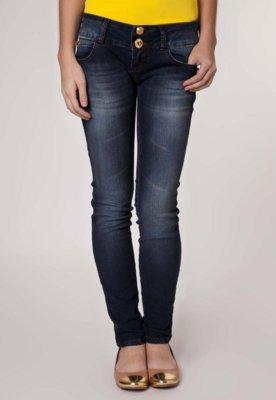 Calça Jeans Coca-Cola Clothing Elástica Skinny Palma Azul ...