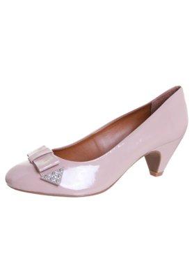 Sapato Scarpin Laço Rosa - Loucos e Santos