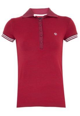 Camisa Polo Calvin Klein Jeans Stripes Vinho