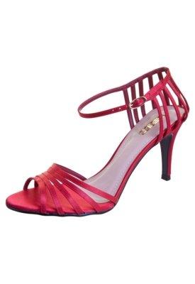 Sandália Divalesi Tiras Frente e Traseiro Vermelha