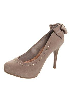 Sapato Scarpin Crysalis Laço Duplo Bege