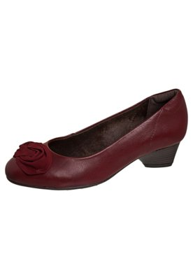 Sapato Scarpin Flor Vermelho - Dayflex