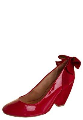 Sapato Scarpin Salto Médio Laço Traseiro Vermelho - Di Cri...