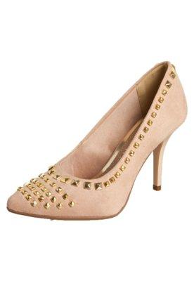 Sapato Scarpin Zatz Bico Fino Pirâmides Bege