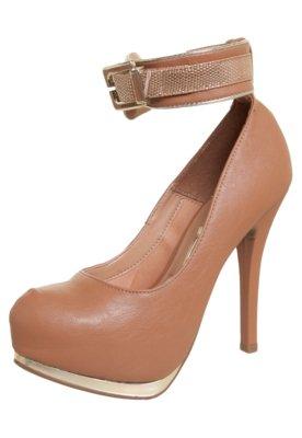 Sapato Scarpin Vizzano Pulseira Metalizada Marrom