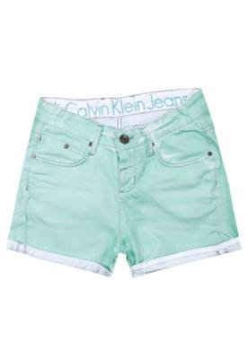 Bermuda Jeans Calvin Klein Stone Color Verde - Calvin Klein ...