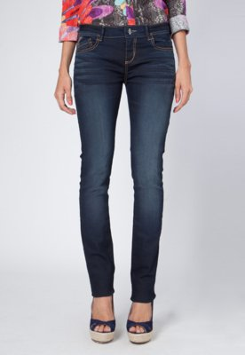 Calça Jeans Desigual Slim Fit The Slow Azul