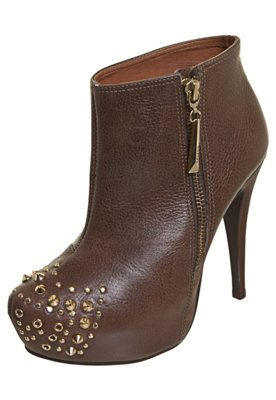 Ankle Boot Triton Biqueira SPikes Marrom