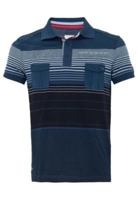 Camisa Polo Gangster Being Azul