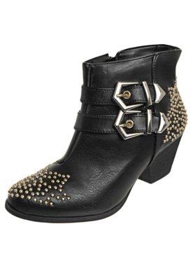 Ankle Boot FiveBlu Tachas Preta