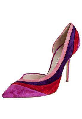 Sapato Scarpin Casadei Mix Rosa